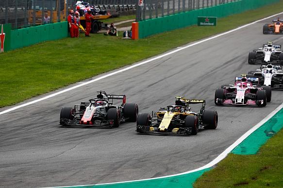 Grosjean Sainz Monza 2018