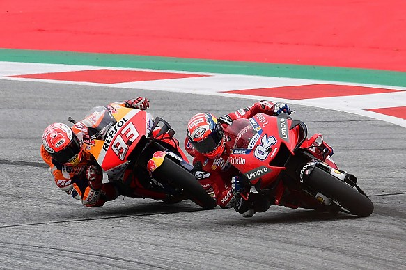 Marquez Dovizioso Red Bull Ring MotoGP 2019