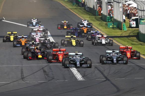 Australian GP race start F1 2019