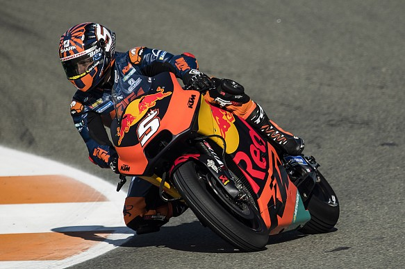 Johann Zarco KTM Valencia MotoGP testing 2018