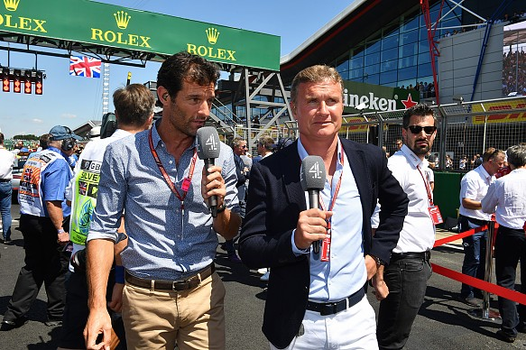 Mark Webber and David Coulthard Channel 4 F1