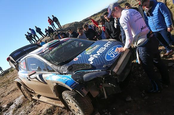 Elfyn Evans M-Sport Ford crash WRC Rally Argentina 2019