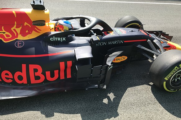Red Bull sidepod detail F1 2018 Spain