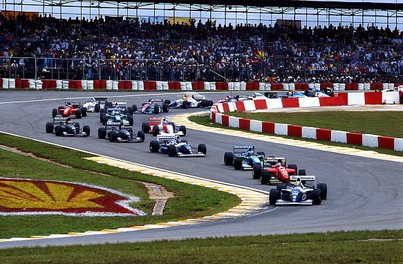 Senna 1994 F1 race start Brazil