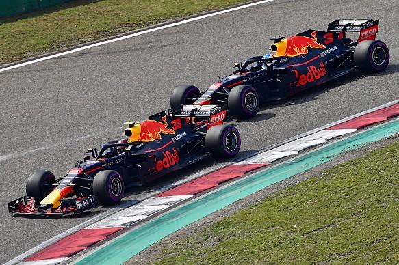 Verstappen Ricciardo China F1 2018 Red Bull