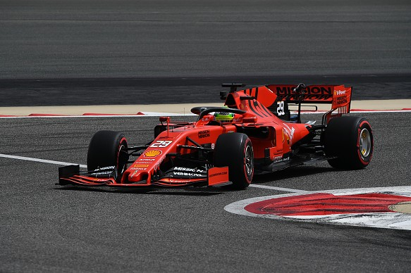 Mick Schumacher Ferrari Bahrain F1 testing 2019