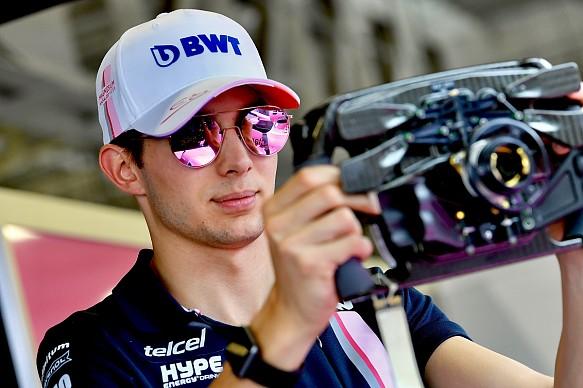 Esteban Ocon F1 steering wheel