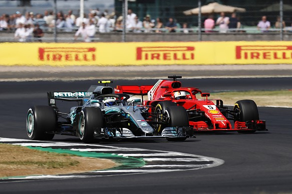 Bottas Vettel F1 2018 British GP