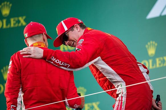 Raikkonen Vettel Ferrari F1 2018