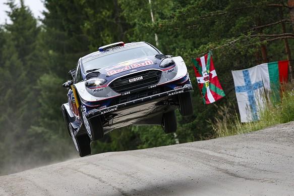 Sebastien Ogier M-Sport Ford WRC Finland 2017