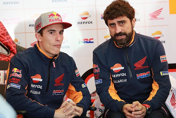 Marc Marquez and Santi Hernandez