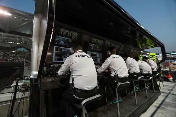 Mercedes Formula 1 pitwall