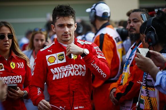 Charles Leclerc Ferrari Abu Dhabi 2019