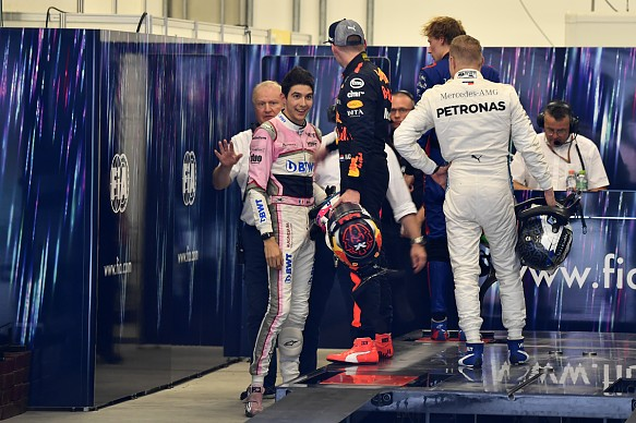 Esteban Ocon and Max Verstappen