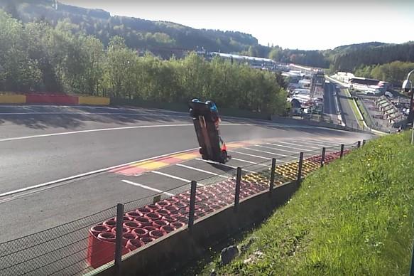 SMP Racing BR Engineering BR1-AER crash Spa 2018