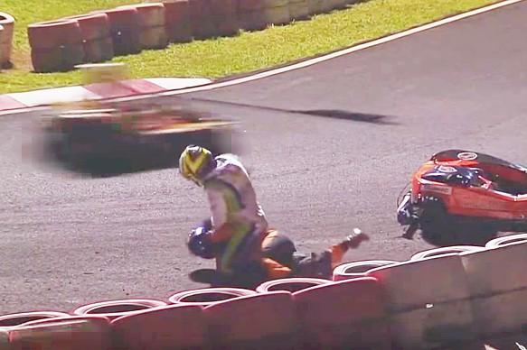Brazilian karting fight