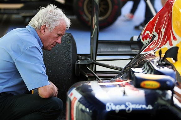 Charlie Whiting Red Bull F1 parc ferme