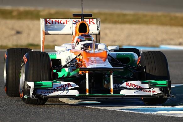 Jules Bianchi Force India test Jerez 2012