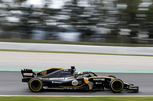 Jack Aitken Renault 2018 Barcelona Young Driver Test