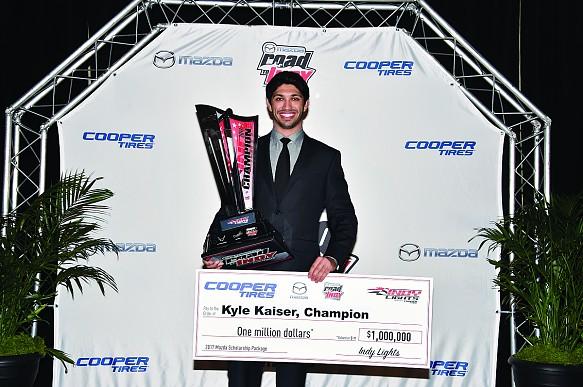 Kyle Kaiser Indy Lights champion 2017