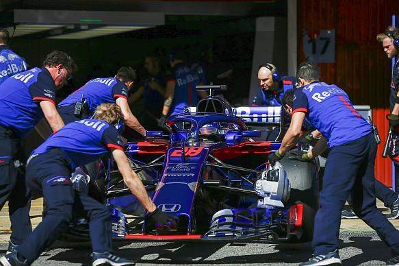 Brendon Hartley Toro Rosso F1 testing 2018
