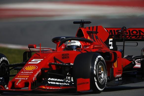 Vettel Ferrari F1 testing 2019
