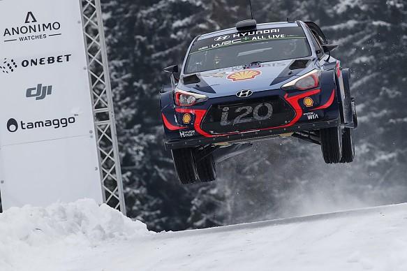 Thierry Neuville Hyundai WRC Rally Sweden 2018