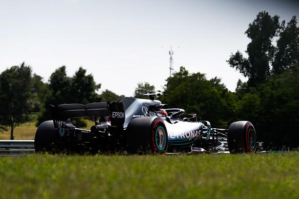 George Russell Mercedes F1 testing Hungaroring 2018