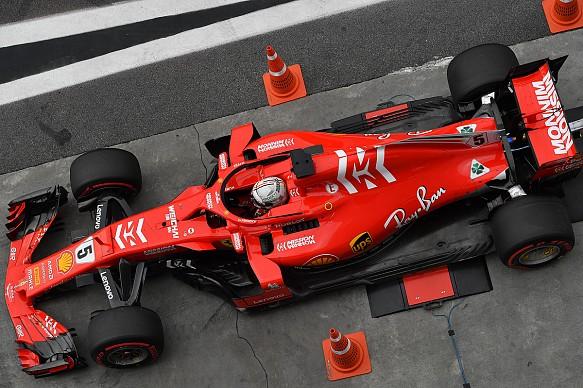 Sebastian Vettel weighbridge Brazilian GP qualifying 2018