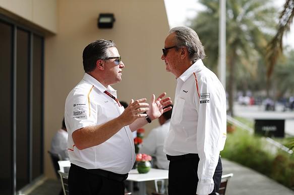Zak Brown Mansour Ojjeh McLaren Bahrain Grand Prix 2018