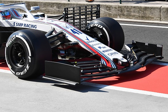 Oliver Rowland Williams F1 testing 2019 wing