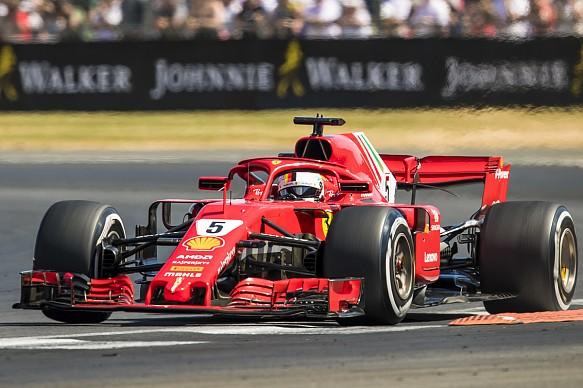 Sebastian Vettel Ferrari British Grand Prix 2018