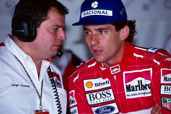 Ayrton Senna Giorgio Ascanelli F1 1993 McLaren