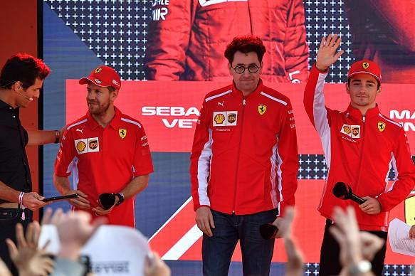 Leclerc Vettel Binotto F1 2019
