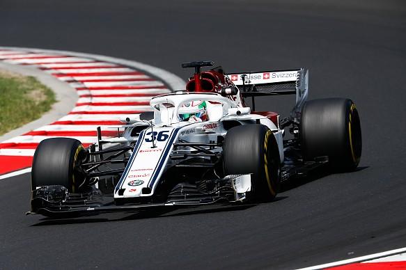 Antonio Giovinazzi Hungary 2018 test Sauber
