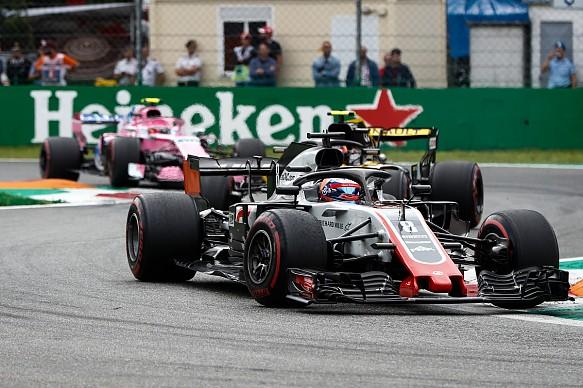 Grosjean Monza race 2018