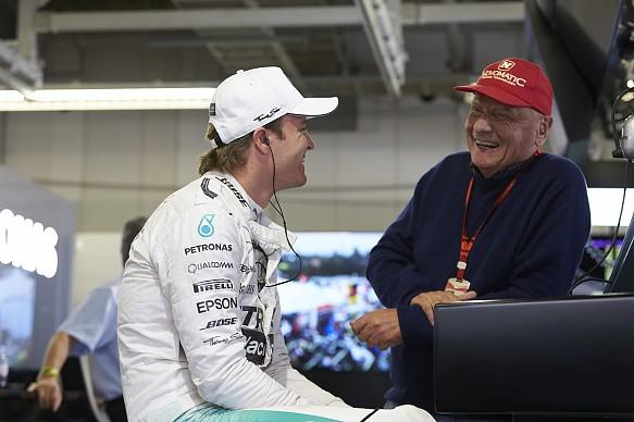 Nico Rosberg Niki Lauda F1