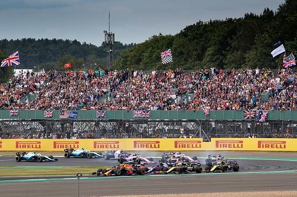 British GP race start F1 2019