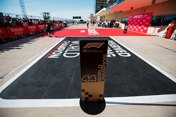 Champion\'s parking spot US GP 2019