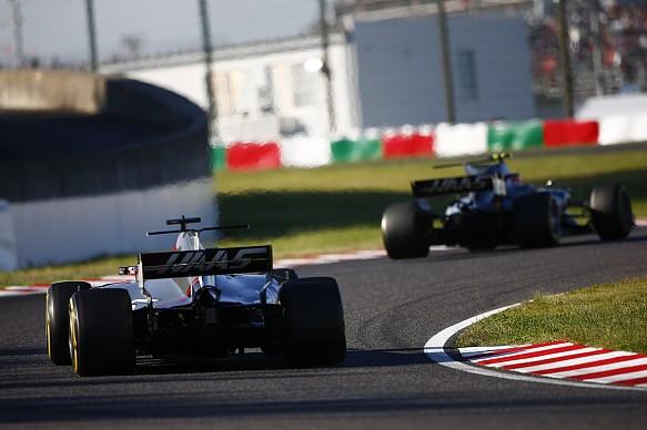 Grosjean Magnussen Haas F1 2017 Japan