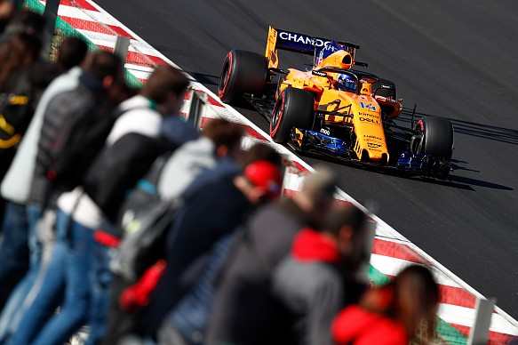 Fernando Alonso McLaren F1 testing 2018