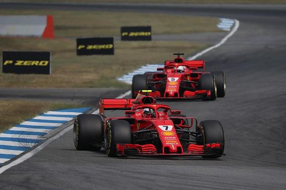 Raikkonen Vettel Ferrari F1 2018 Germany