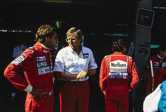 Tim Wright Gerhard Berger 1990 Mexican Grand Prix