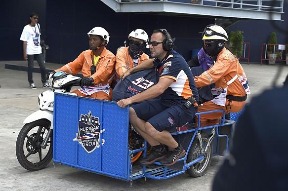 Marc Marquez crash wreckage Buriram MotoGP 2019