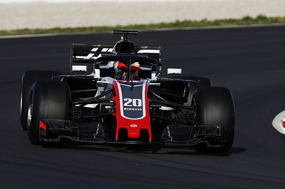 Kevin Magnussen Haas F1 2018 testing