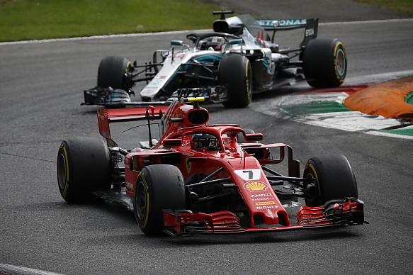 Raikkonen Hamilton Italian Grand Prix 2018