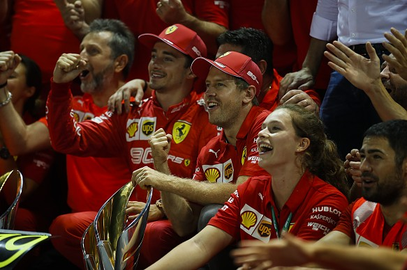 Sebastian Vettel wins Singapore GP 2019