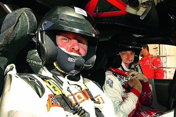 David Evans and Kris Meeke