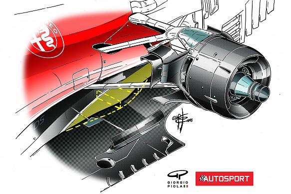 Ferrari SF16H floor trough Piola