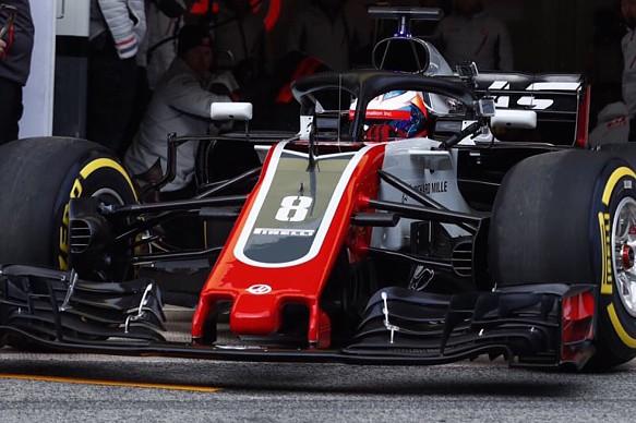 Romain Grosjean Haas testing 2018